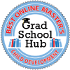 Best online masters in child development badge