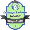 College Values Top Online Degrees Badge