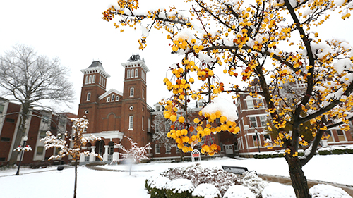 Cal U campus during Winter.
