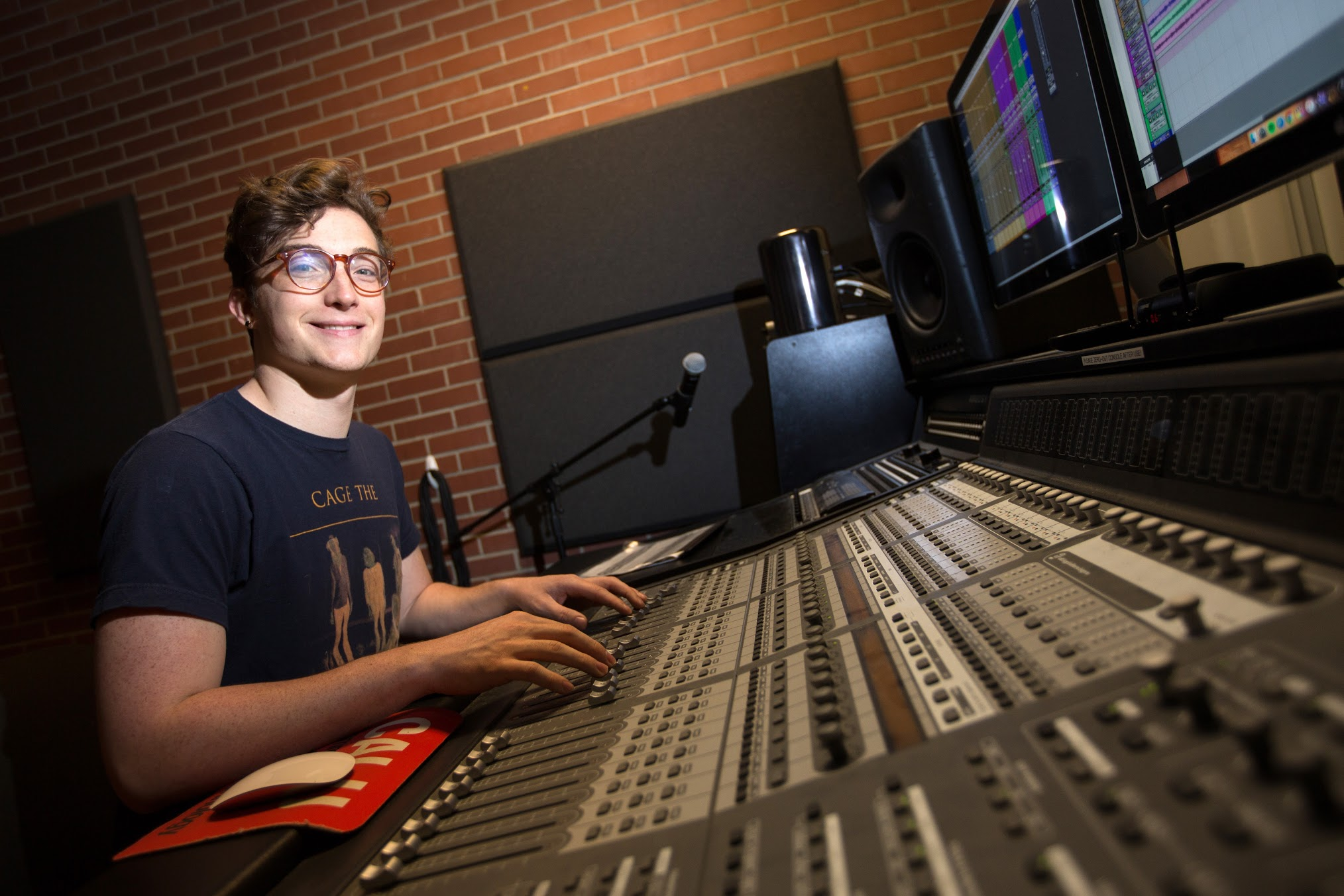 A commercial music student prepares for a career.