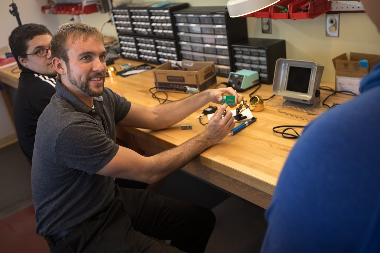 A robotics alumni comes back to teach Cal U students.