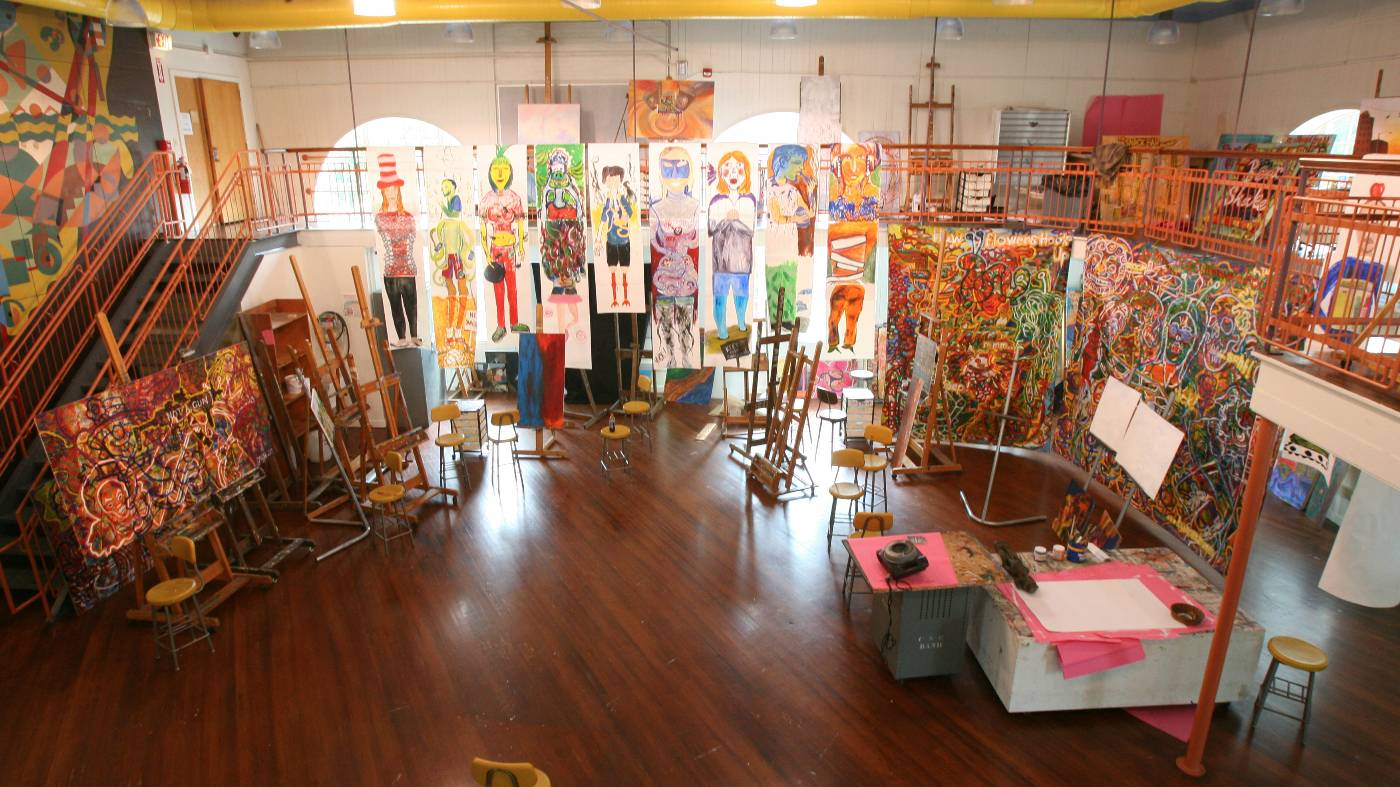 Vulcan Hall art studio at Cal U.