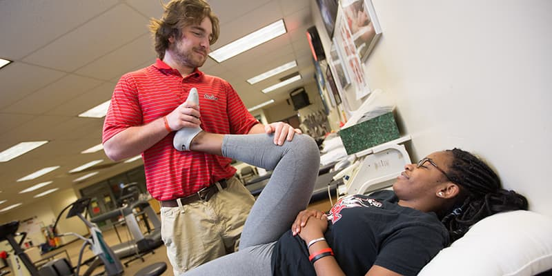 A Cal U student works as a health science professional.