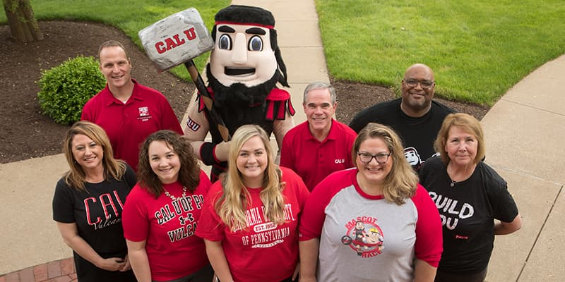 Cal U admissions counselors group photo.