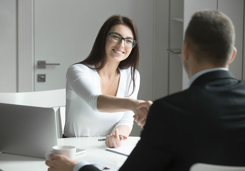 A prepared person interviews for a new career.