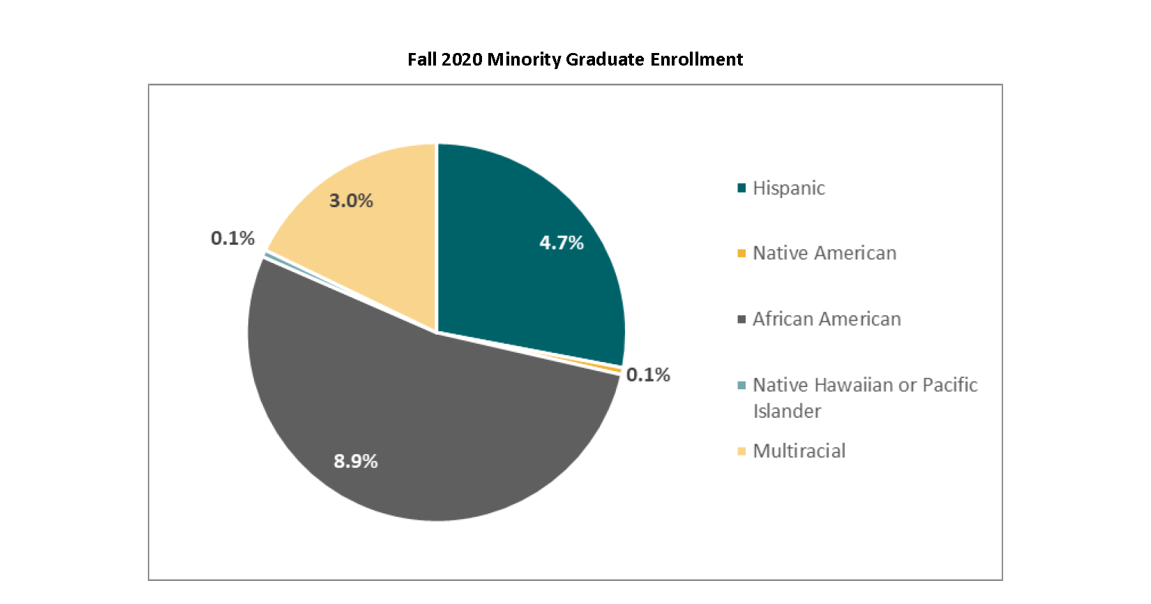 Fall 2020 Minority Graduate Enrollment