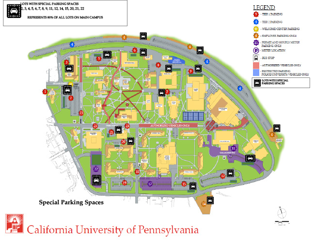Cal U Campus Map – Partistunisie