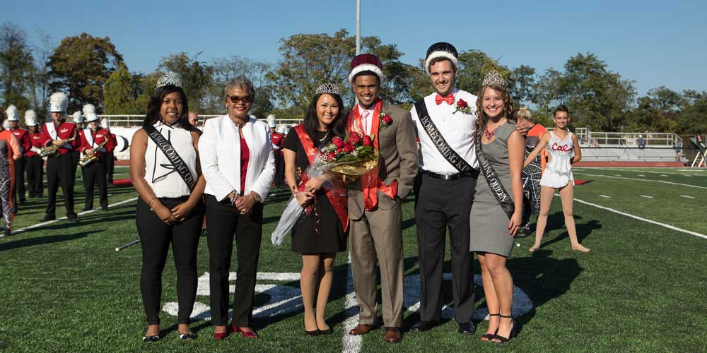 Students at Homecoming Court.