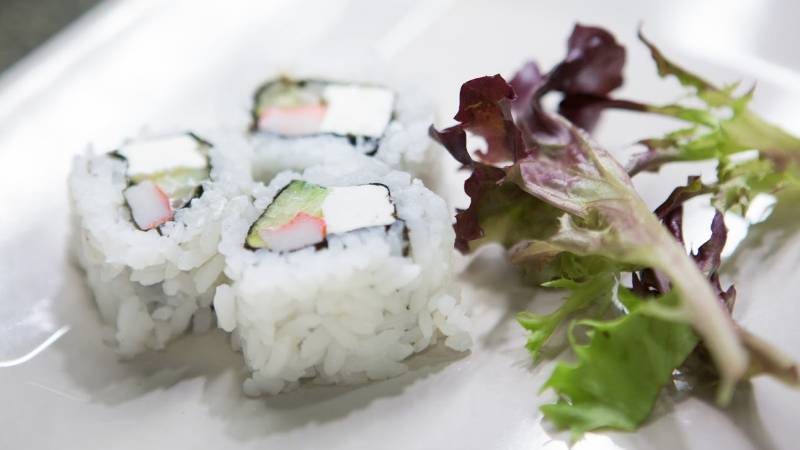 Sushi served at Cal U's Gold Rush.